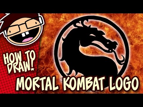 How To Draw The Mortal Kombat Dragon Symbol Logo Narrated Easy