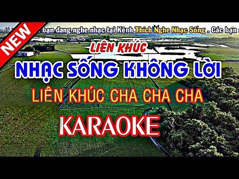 Nhạc Sống Không Lời Rất Hay  - KARAOKE Nhạc Sống Thôn Quê 2018 - LK Cha Cha Cha Tuyệt Hay