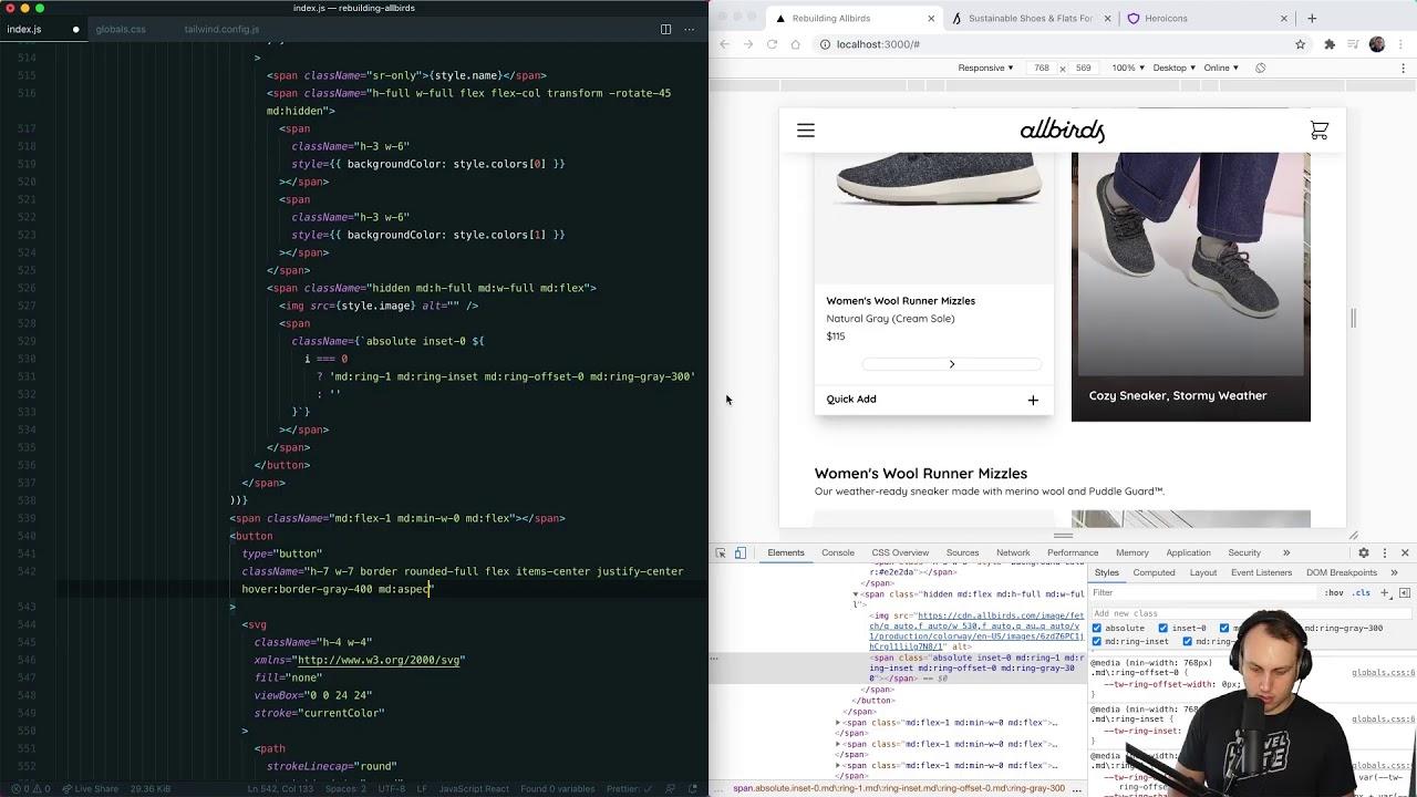 Rebuilding Allbirds.com with Tailwind CSS (Part 2)