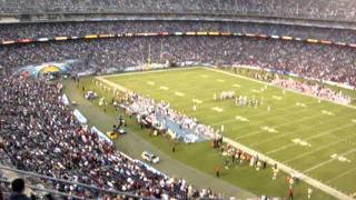 San Diego Chargers Qualcomm Stadium  Sec 43 Row 22 Seat 16 Gate L Nosebleed Section Sept 1 2011