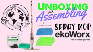 EkoWorx Healthy PRO SPRAY MOP with reusable MICROFIBER Unboxing and Assembling BOOMJOY