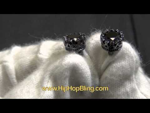 Crown Solitaire CZ Diamond Earrings