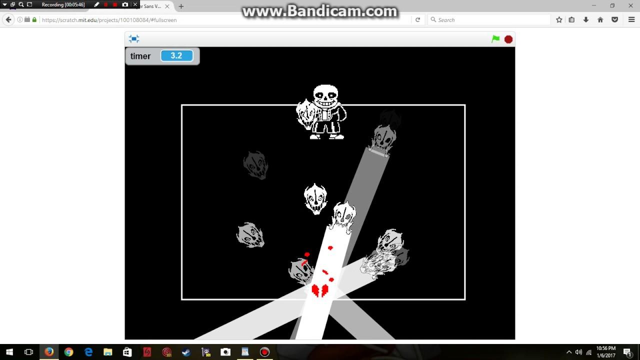 Gameplay: Sans VS Chara on Scratch