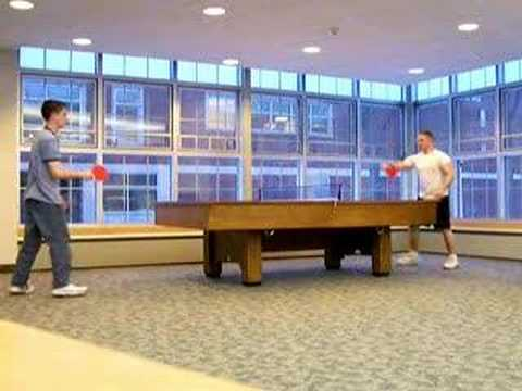 how to put side spin on a ping pong ball