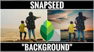 Snapseed tutorial - How to Change Background
