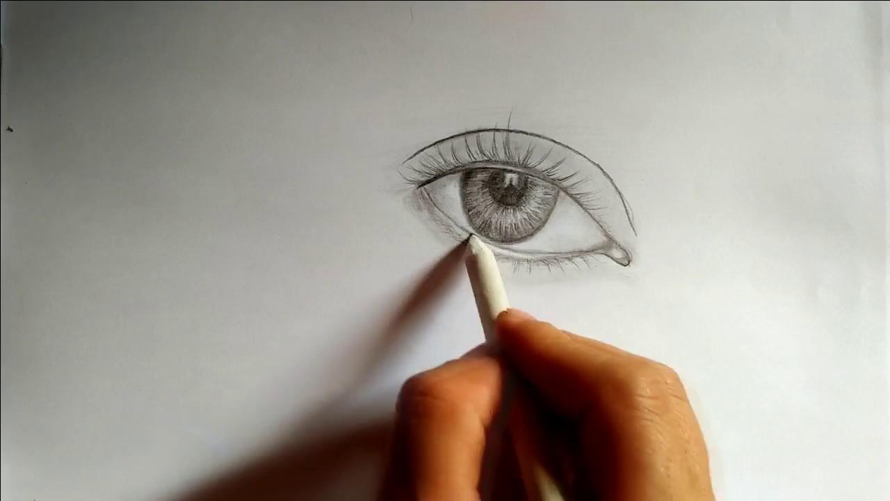 vẽ mắt đơn giản bằng bút chì