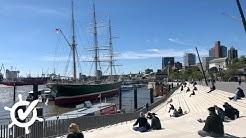 Hafen ohne Hafengeburtstag: Matthias live von den Landungsbrücken in Hamburg