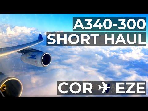 AEROLINEAS ARGENTINAS A340 TAKEOFF ENGINE NOISE | Córdoba COR ✈ Ezeiza EZE BUSINESS