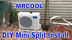 Mr Cool mini split air conditioner install.