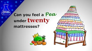 """Can you feel a pea under twenty mattresses? - a simple mechanics model of """"the Princess and the Pea"""""""