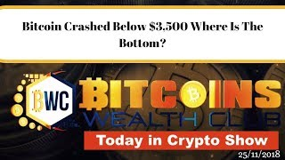 Bitcoin Crashed Below $3,500 Where Is The Bottom?