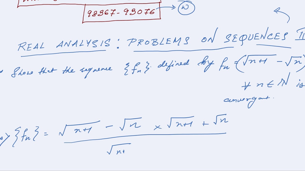 REAL ANALYSIS PROBLEMS SEQUENCE 2 books coaching online test preparation  notes solved papers tricks