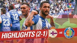 Resumen de RC Deportivo vs Getafe CF 2-1