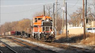 Railfanning La Grange, Illinois, 01.06.12: BNSF, NS, IHB, UP, CP, Metra & Amtrak