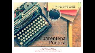 Cuarentena poética 18 abril 2020