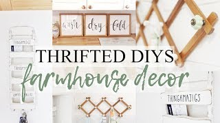 DIY FARMHOUSE THRIFTED DECOR *rae dunn*