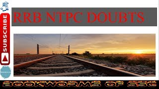 All douts relating RRB NTPC CEN-03/2015 2017 Video
