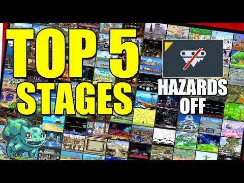 Top 5 Stages with HAZARDS OFF - Super Smash Bros Ultimate thumbnail