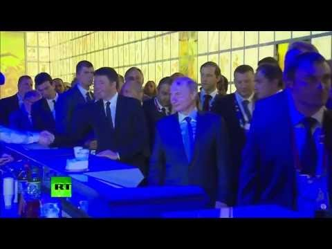 Italy: Putin leaves Milan meeting with Renzi