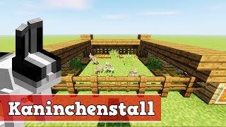 Wie baut man einen Kaninchenstall in Minecraft | Minecraft Kaninchenstall bauen deutsch