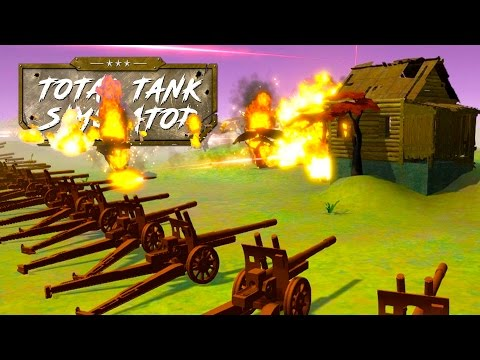 MASSIVE Artillery Battles and German Campaign Challenges! - Total Tank Simulator Sandbox Gameplay