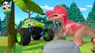Los Autos de Monstruo VS Los Dinosaurios | Canción Infantil | BabyBus Español