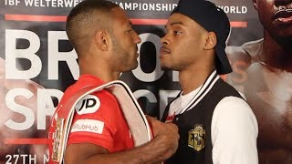 KELL BROOK v ERROL SPENCE - HOSTILE & LIVELY HEAD TO HEAD! @ FINAL PRESS CONFERENCE / BROOK v SPENCE