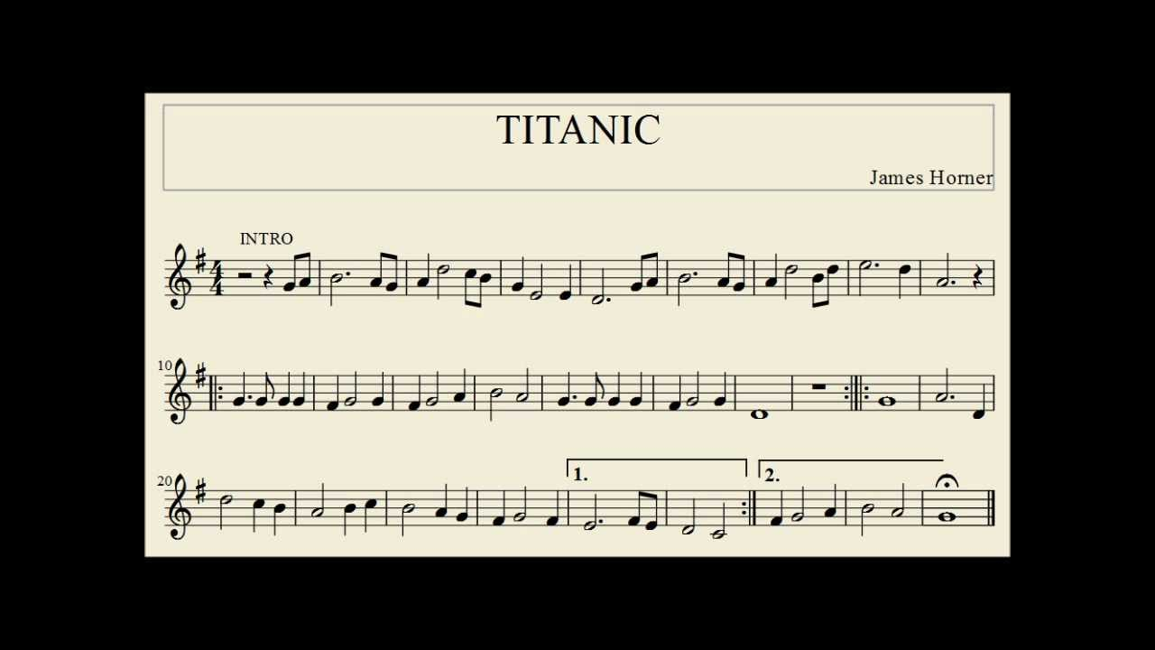 titanic canzone da