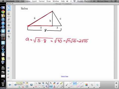 G2 - Similar Right Triangles (Geometric Mean Method) - Dorn
