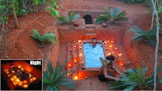 Build The Underground Heated Swimming Pool In Front Of Secret House