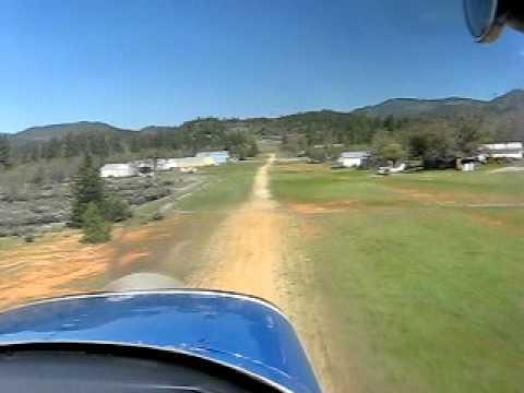 Greyfox landing C-150 at Beagle Sky Ranch, Oregon