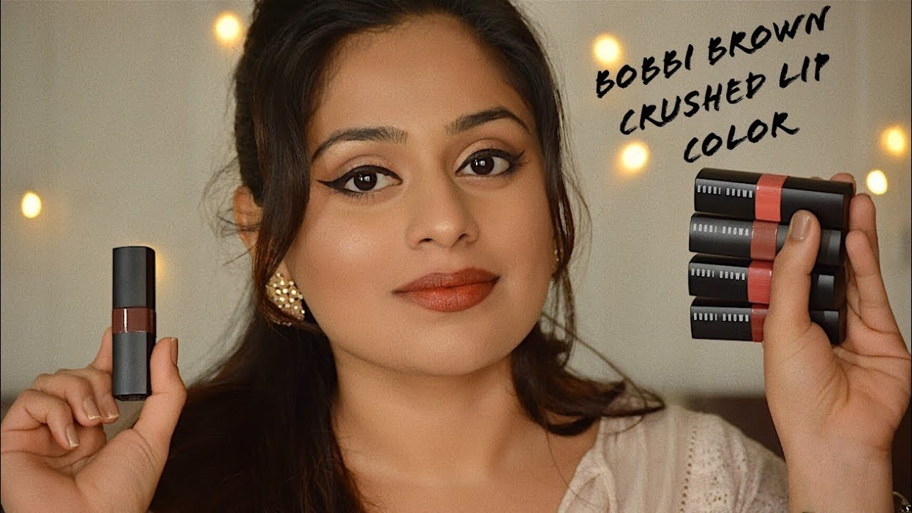 New Bobbi Brown Crushed Lip Colors Review Swatches Youtube