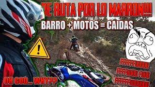 MOTO TRAIL VS BARRO = CAIDAS !!! RUTA OFFROAD POR LO MARRON !!! ZODZ MOTOVLOG ONBOARD