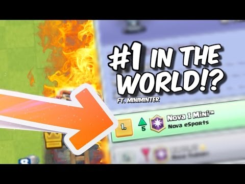 #1 IN THE WORLD with LAVALOON! Pro Deck Tips MINIMINTER in Clash Royale