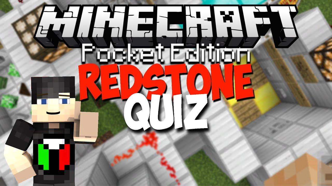 Minecraft PE 0.13.0 Custom Map   Redstone Quiz!!
