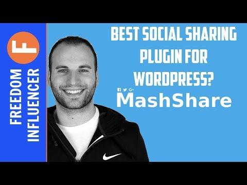 MASHSHARE WORDPRESS PLUGIN REVIEW - BEST SOCIAL SHARING PLUGIN? - 동영상