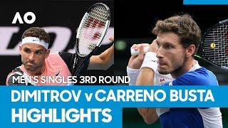 Grigor Dimitrov vs Pablo Carreno Busta Match Highlights (3R) | Australian Open 2021
