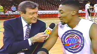 Chick Hearn with Scottie Pippen, 1994 interview