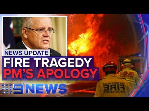 Firefighters Killed On Frontline, PM Apologises For Family Trip | Nine News Australia
