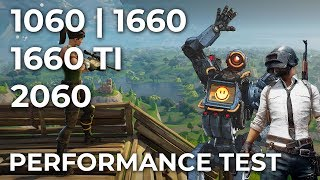 GTX 1660 vs. RTX 2060 PUBG | Fortnite | APEX Legends Performance Comparison [promotion]
