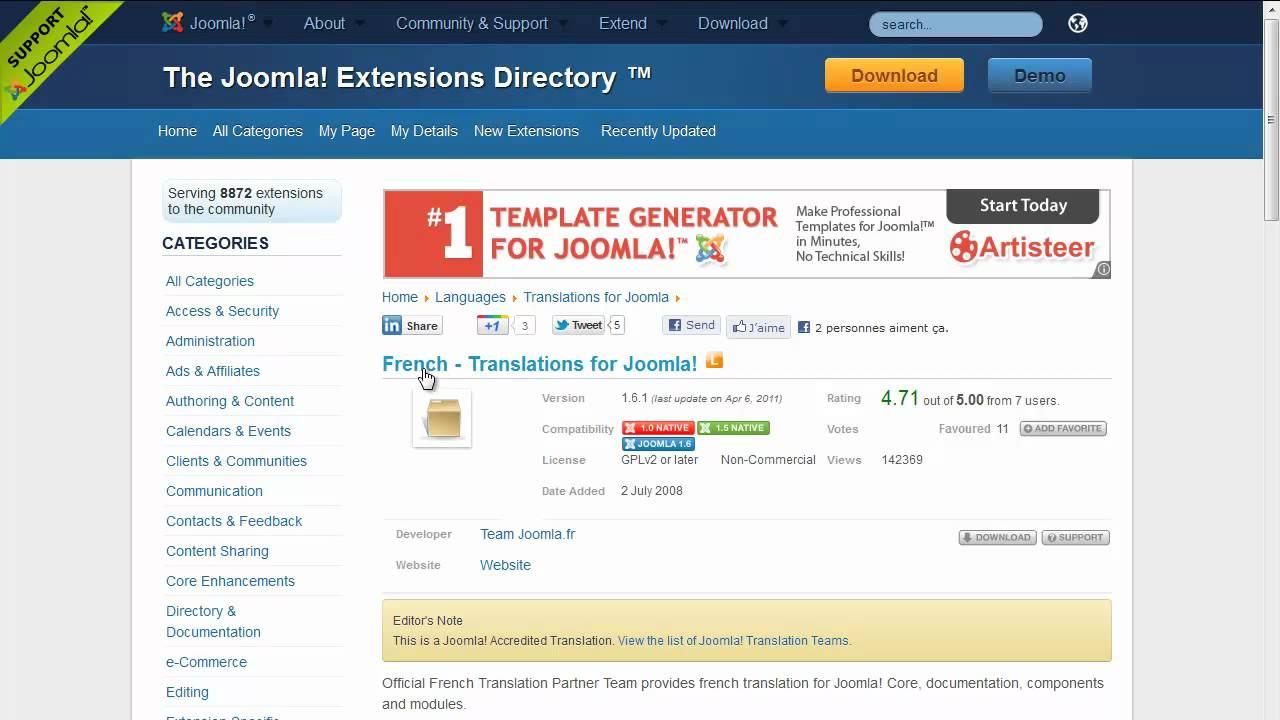 Migration de Joomla 1.5 vers Joomla 2.5 via JUpgrade
