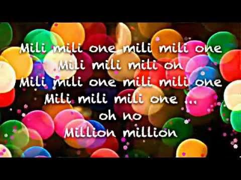 "Alexandra Stan ""One million "" lyrics"
