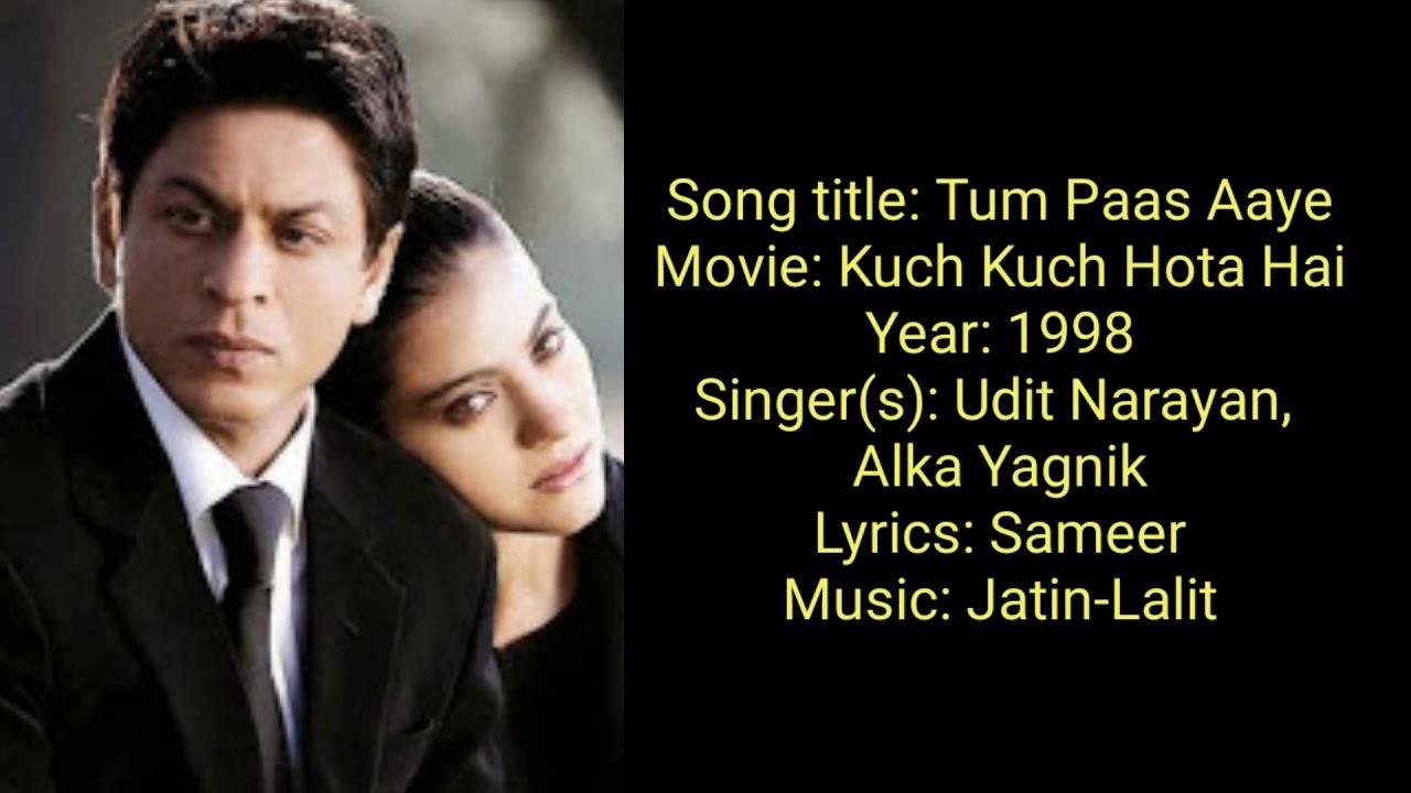 Download तुम पास आये Tum Paas Aaye Hindi Lyrics – Kuch Kuch Hota Hai