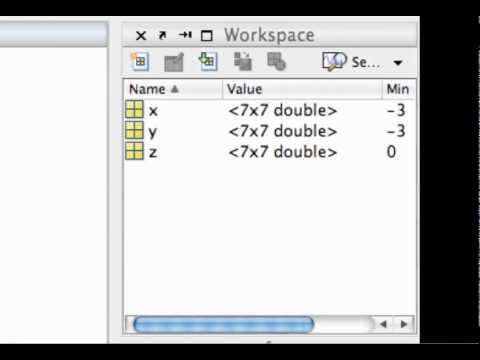 Plotting functions of two variables in MATLAB (Part 1)