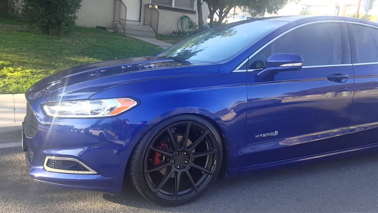 2015 Ford Fusion Rims >> 2013 Ford Fusion Hybrid of. 20 inch wheels - YouTube