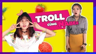 OHSUSU BỊ TROLL KHI ĐI TOILET || Troll cùng Nabee
