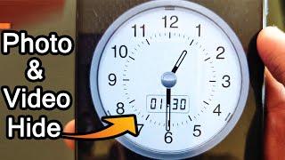 How To Hide Photos And Videos | secret clock vault photo video locker | Android tricks screenshot 2