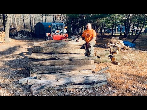 Firewood Logging - Pulling Trees Down & Out