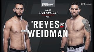UFC on ESPN 6: Dominick Reyes vs Chris Weidman Recap