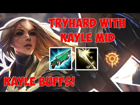 Tryhard in Diamond 1 with buffed Kayle mid | kayle 1v9